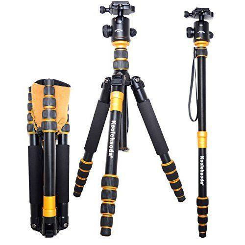 Zomei Z669C Professionelle Kohlefaser Tripod Stative Einbeinstativ Kit & 360º Quick Freigabe Kugelkopf mit Tragetasche für Kamera und Videokamera