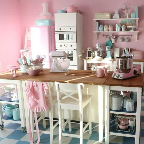 17 Best Images About PINK / Kitchens & Accessories On