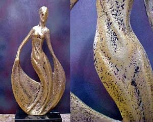 Lady of Fashion Statue, Metal Sculpture