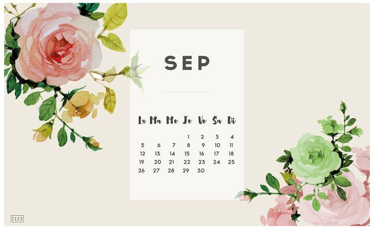 CALENDRIER SEPTEMBRE #2016 + FOND D ÉCRAN Fond d'écran ordinateur Fond d'écran septembre et
