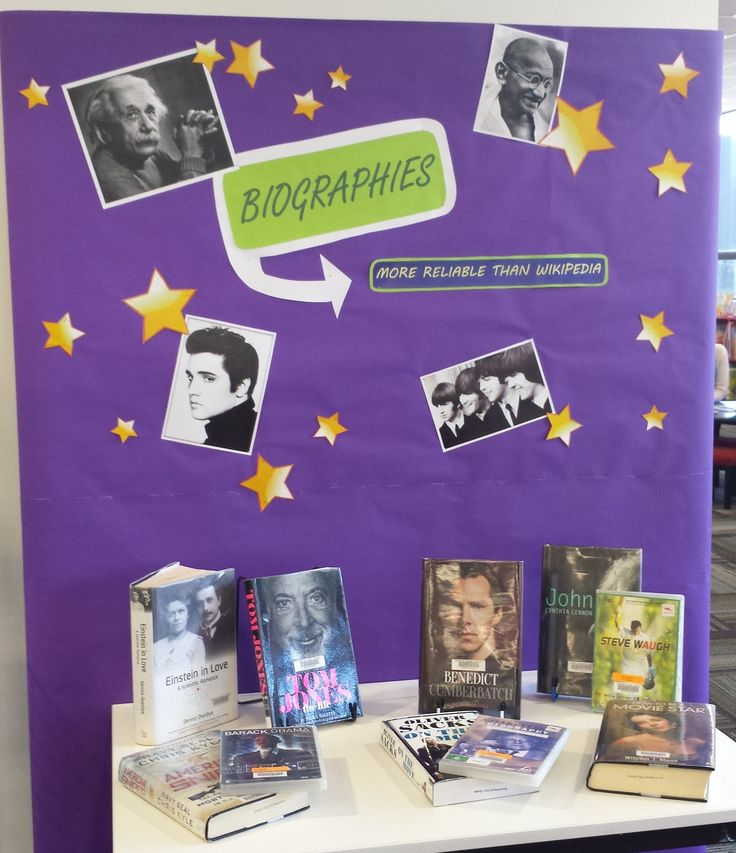 Biographies display Queanbeyan City Library