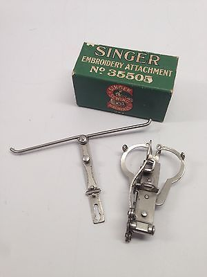 RARE Vintage Singer Two Thread Embroidery Attachment 40 Vintage Custom Embroidery Attachment For Sewing Machine