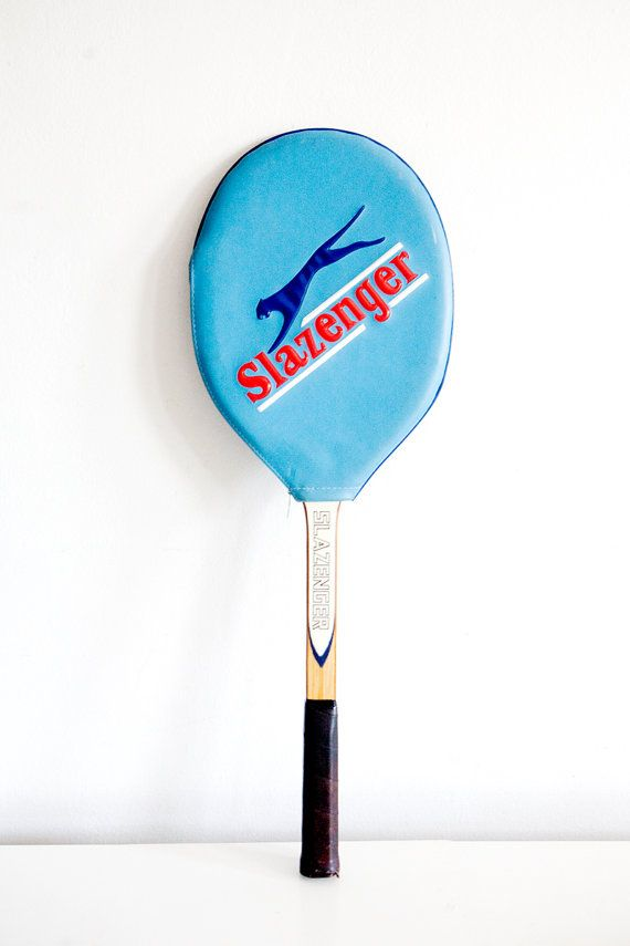 Vintage Slazenger Tennis Racket with by BrightWallVintage on Etsy