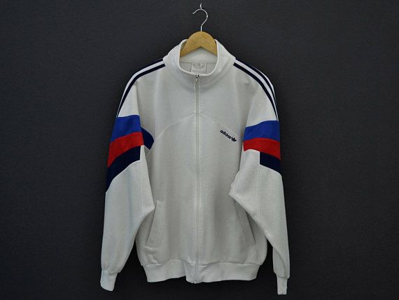 Adidas Jacket Men Size L/XL Vintage Adidas Track Top 90s