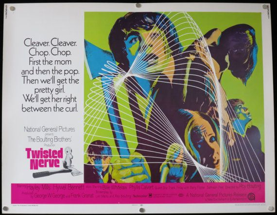 TWISTED NERVE Movie Poster Rare 1969 by ScreenlandMoviepaper