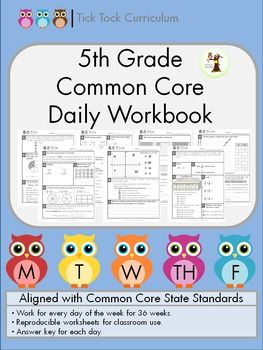 5th Grade Common Core Worksheets