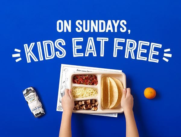 FREE kid's meal Sundays in September