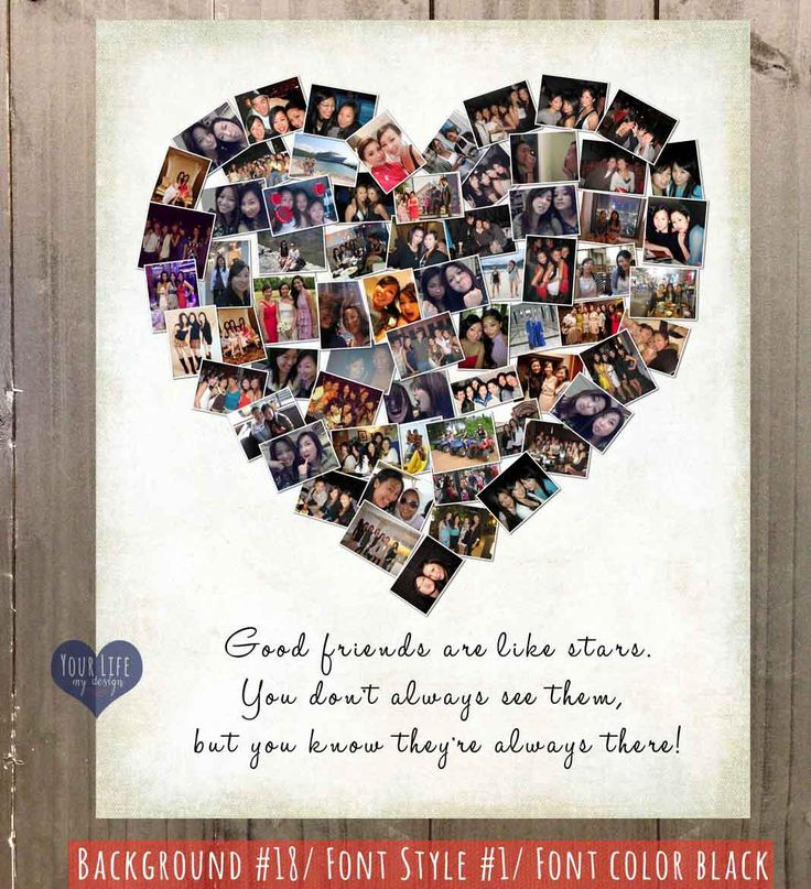 Gift for Best Friends Photo Collage Gift for by YourLifeMyDesign