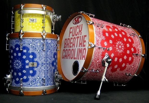 Breathe Carolinas SJC Drum kit is sick.