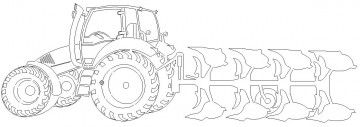 ausmalbilder traktor mit pflug | printable password log, printables