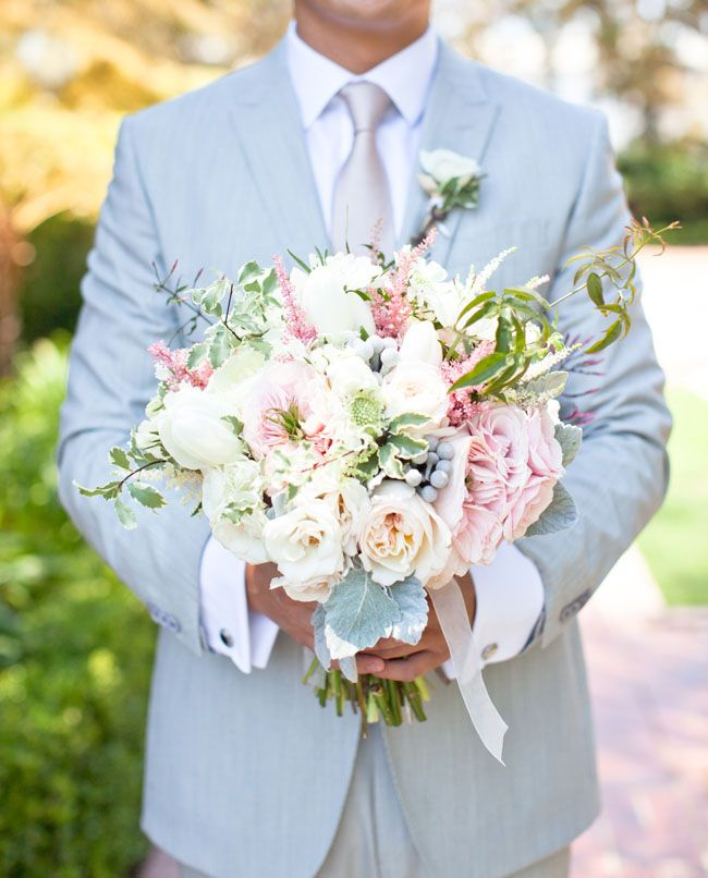 Romantic wedding at Greystone Mansion : Chriselle + Allen - Bridegroom holding