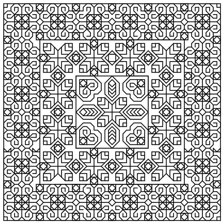 TrioCube Blackwork Cross Stitch Pattern - http://stitchme.gifts/product/triocube-blackwork-cross-stitch-pattern/ Blackwork, Cross Stitch, Cube, Pattern