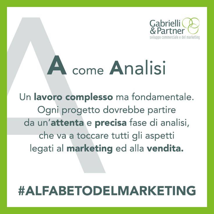 Mai sentito parlare dell'alfabeto del marketing?  Cominciamo proprio dalla lettera A come A-nalisi, punto di inizio per una S-trategia efficace   Venite a scoprire i nostri corsi di formazione:  CLICK! http://ga-group.it/formazione/