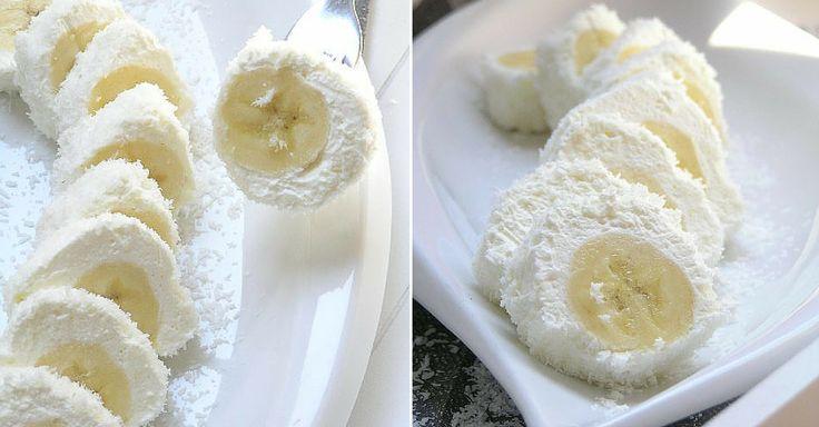 Jestli šílíte po něčem sladkém a zároveň nemáte času nazbyt, vyzkoušejte tento recept. Kombinace čerstvého banánu se smetanou a kokosem je naprosto úžasná a navíc sladká i bez jakéhokoli přidaného cukru. Ingredience banán smetana ke šlehání stužovač (volitelné) strouhaný kokos na obalení Postup Potravinovou fólii posypte kokosem. Vyšlehejte smetanu se ztužovačem do tuha a rozetřete ...
