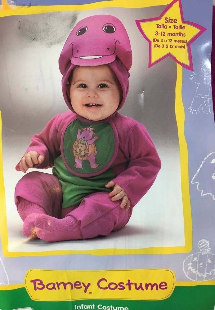 New Barney The Dinosaur Infant Baby Halloween Costume 3 12 Months Unisex | eBay