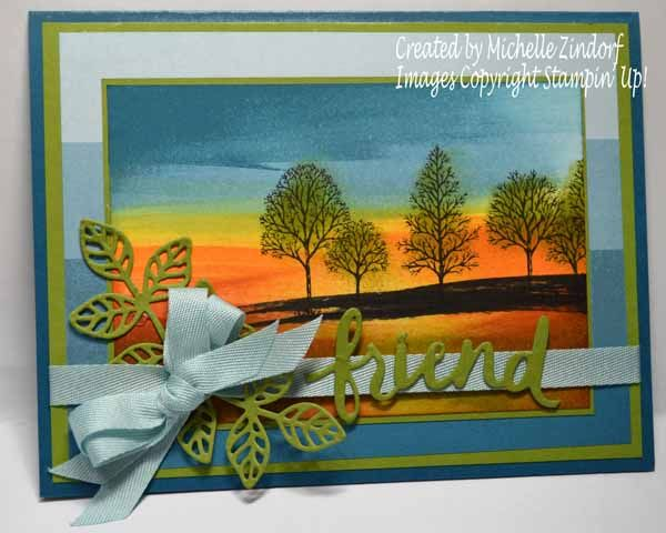 For a Friend Stampin' Up! Card created by Michelle Zindorf - Lovely as a Tree