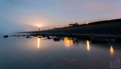 "Lighthouse ""de Lange Jaap"", in Den Helder, The Netherlands."