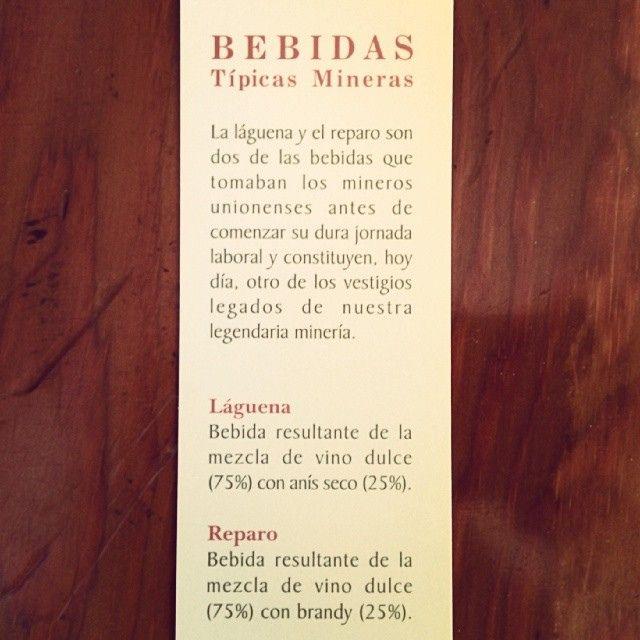 Bebidas típicas mineras (La Unión, y en general el Campo de Cartagena)