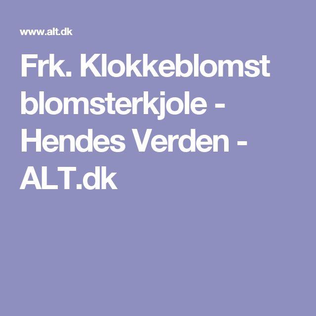Frk. Klokkeblomst blomsterkjole - Hendes Verden - ALT.dk