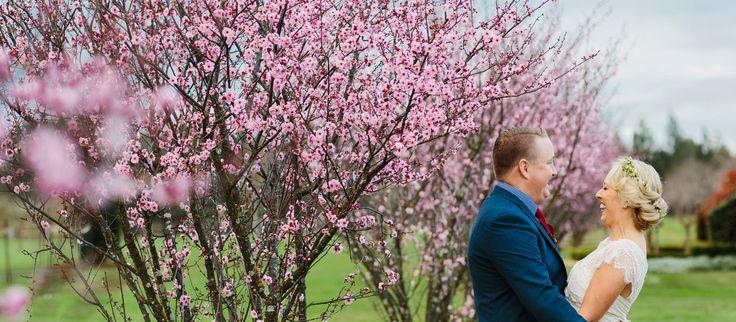 Cherry blossoms Sydney Polo Club Winter Wedding. Photography: Sutoritera