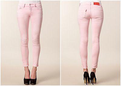 Jeans rosa pastello da Nelly