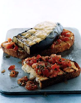 Eggplant and Smoked-Gouda Open-Faced Grilled Sandwiches Recipe  at Epicurious.com