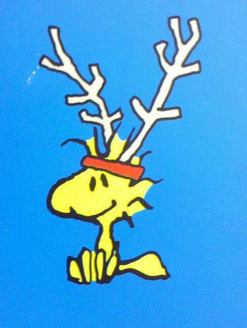 reindeer Woodstock. Peanuts character, Charles Schulz