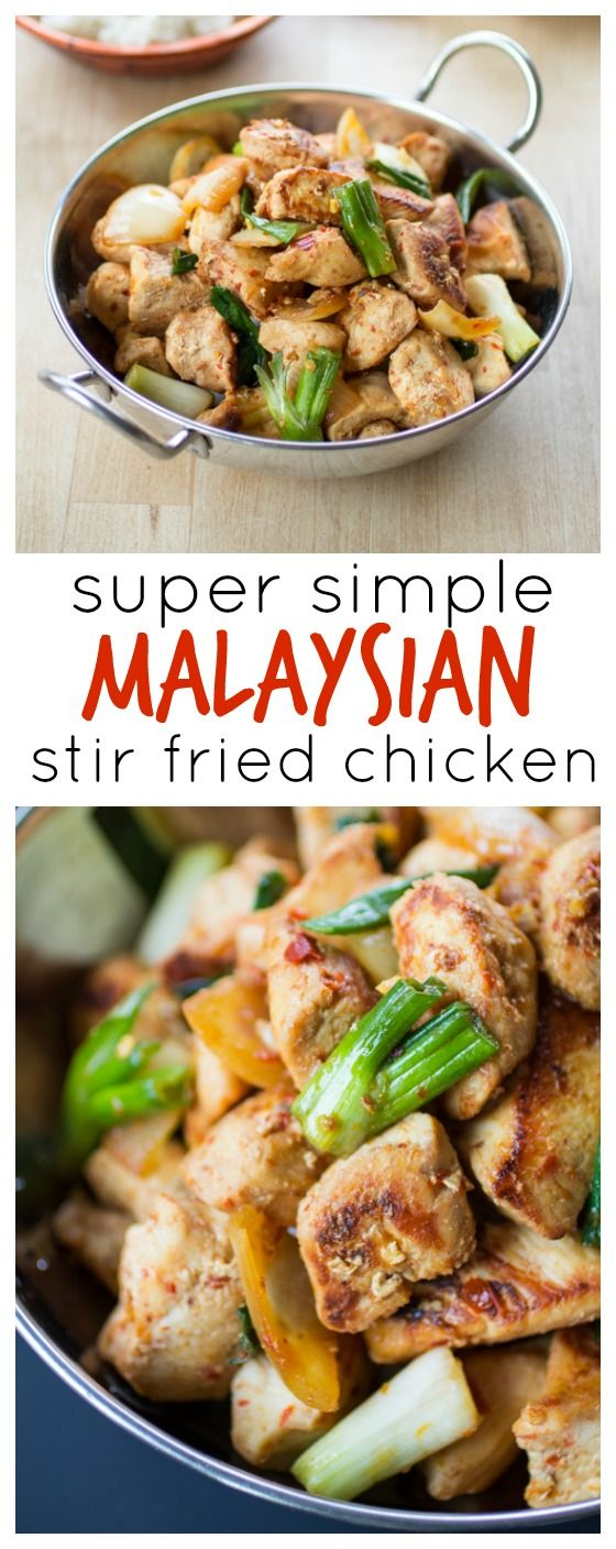 ... hot chili sambal sauce in this simple Malaysian Stir Fried Chicken
