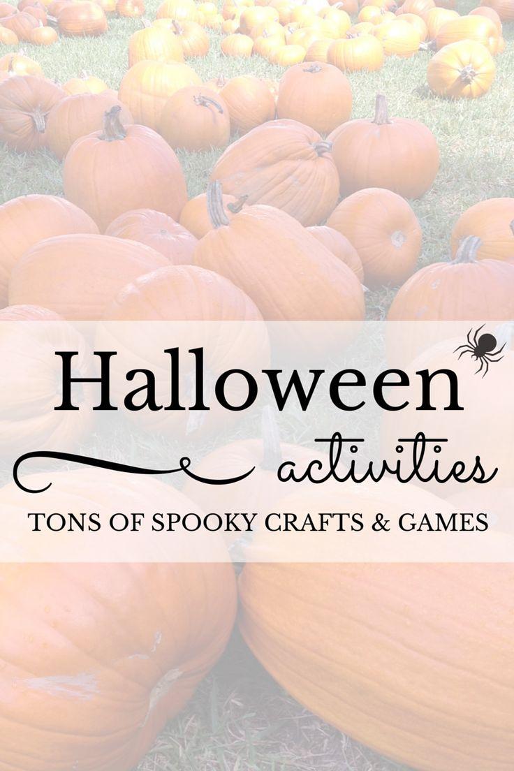 Last Minute Halloween Activities For Kids Featuring Spooky