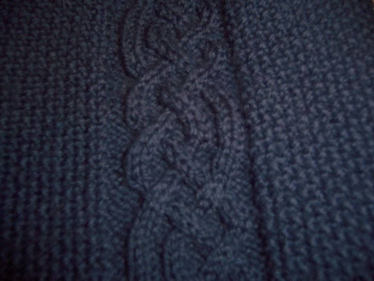 Detail of Pretzel Braid from Aran pullover.