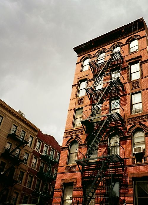 "Fire escapes on the Lower East Side. New York City.  ""Everyone needs a Lower East Side in their life.""—Irving Berlin"