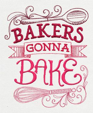 spice it up bakers gonna bake design ut10343 from urbanthreadscom - Bakers Gonna Bake Kitchen Redwork Embroidery Designs