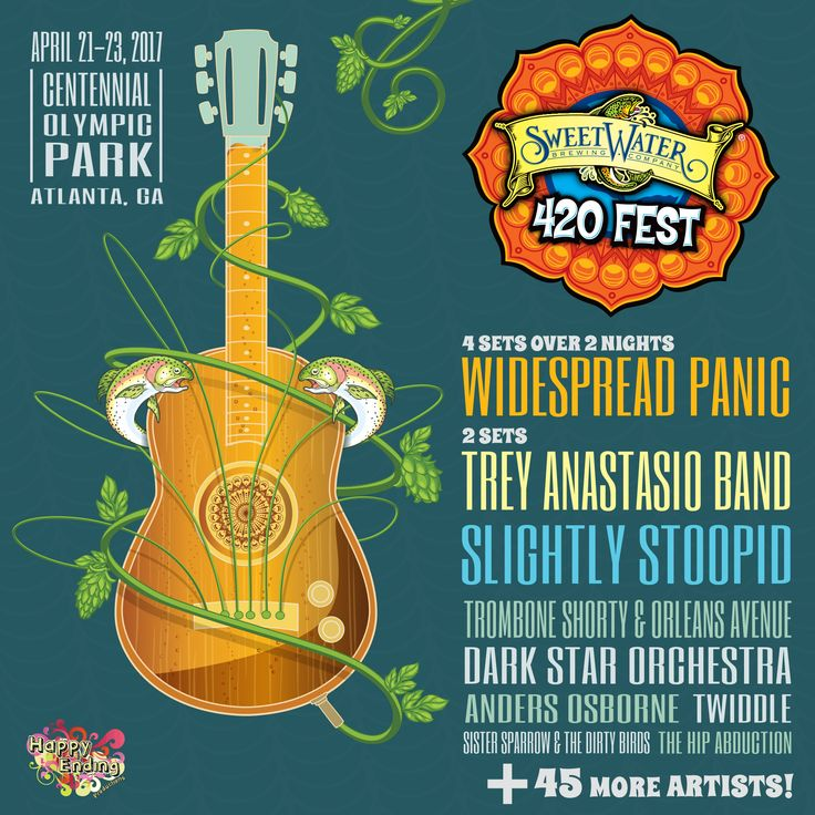 SweetWater 420 Fest returns on April 22-24, 2016 in Centennial Olympic Park…