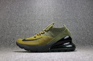 8c5966f873 Nike Air Max 270 Flyknit Unisex Running Shoes Black/Army Green ...