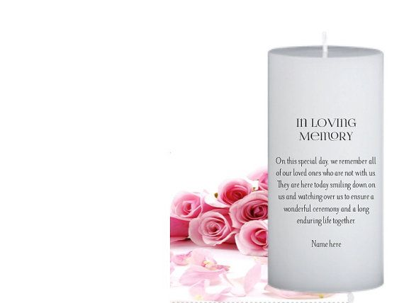 In Memory Candles For Weddings