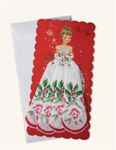 Mailable Hankie Miss Christmas With Holly Rose A Gift Inspired By The Ones Found In Our Mothers Handbags That Wiped Tears And
