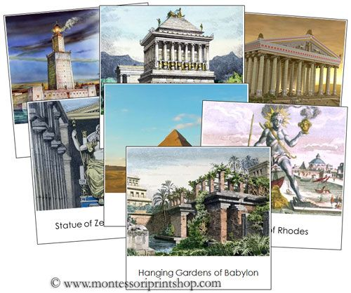 7 Wonders of the Ancient World - Printable Montessori materials
