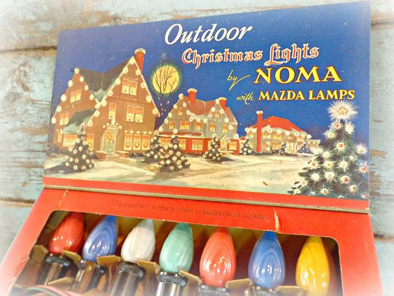 vintage noma christmas lights working outdoor lights retro