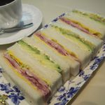 銀座千疋屋 - ハムとアボカドのサンドイッチ