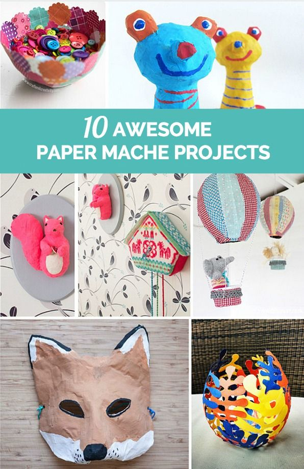 10 best images about paper mache on pinterest paper for Paper mache activities