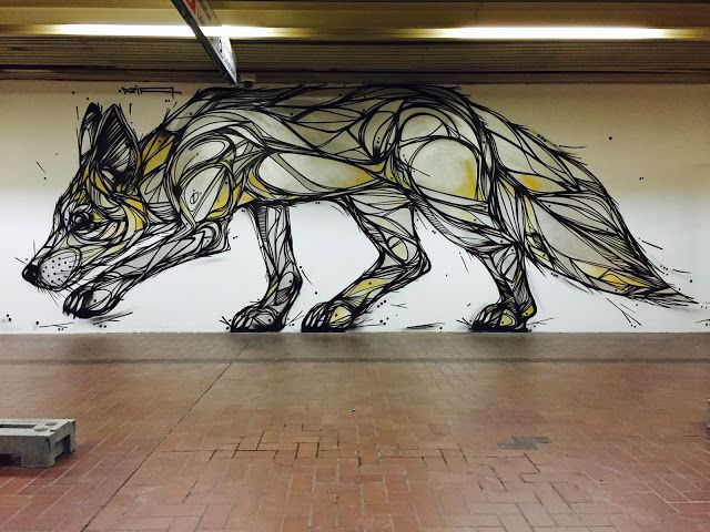 Working non-stop without taking a break, DZIA has recently been tearing up the streets of Antwerp with a bunch of outdoor pieces. This time around, the Belgian artist was given the opportunity to paint an indoor piece located in Antwerp's Premetro.