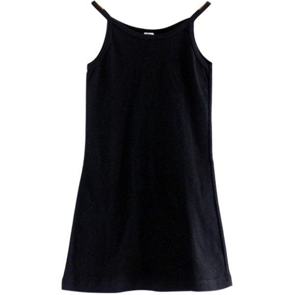 dress AMERICAN APPAREL ($25) ❤ liked on Polyvore featuring dresses, tops, black, vestidos, summer dresses, black cocktail dresses, black dress, summer cocktail dresses and american apparel