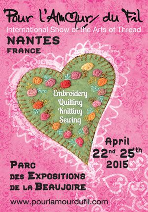 """APRIL 22nd to 25th, 2015 Thread Arts will be hugely displayed at this 7th edition! In 2015, Bill Volckening will be one of our guests with the world's largest collection of antique """"New York Beauty"""" quilts, the great Japanese indigo quilts by Tomie Nagano, the traditional quilts of Kay England, wonderful Molas by Fumiko Nakayama, the """"Medieval"""" exhibition by Dijanne Cevaal, the famous embroideries by Cecile Franconie, and many other Australian, American and European artists!"""