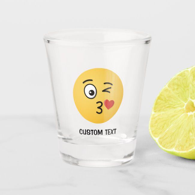 Face Throwing A Kiss Shot Glass Zazzle Com In 2020 Shot Glass Kiss Shot Glass