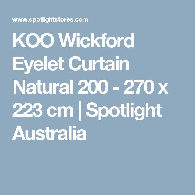 KOO Wickford Eyelet Curtain Natural 200 - 270 x 223 cm   Spotlight Australia
