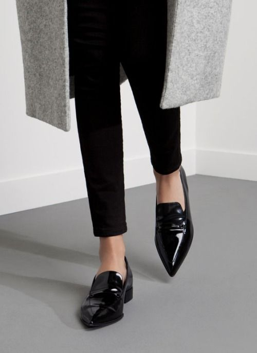pointed patent loafers