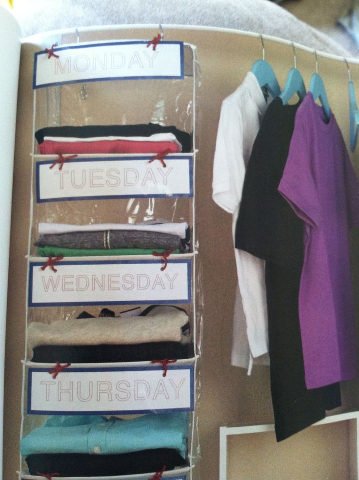 Weekly Clothing Organization Household Tips Tricks