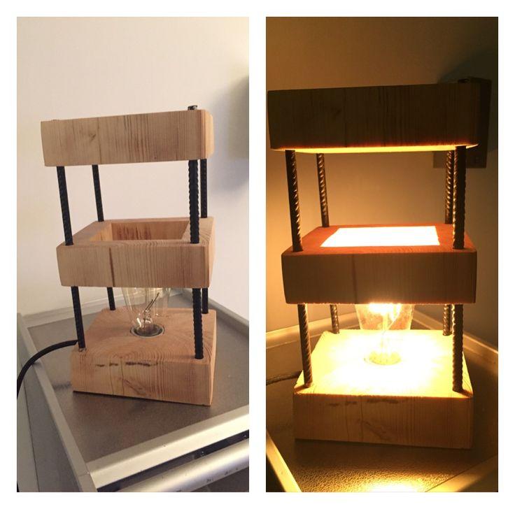 Lampe dans linteau taillé dans la masse et fers à béton
