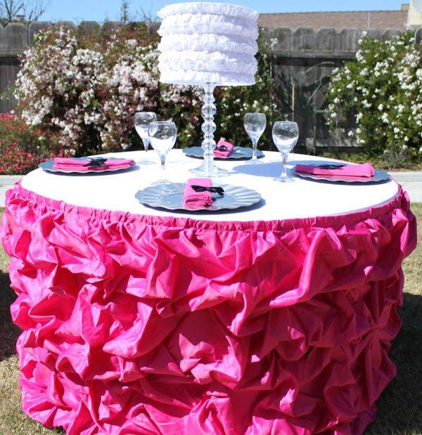 Ruffled table