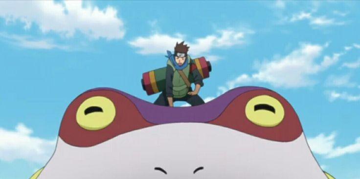 Konohamaru summoned Frog